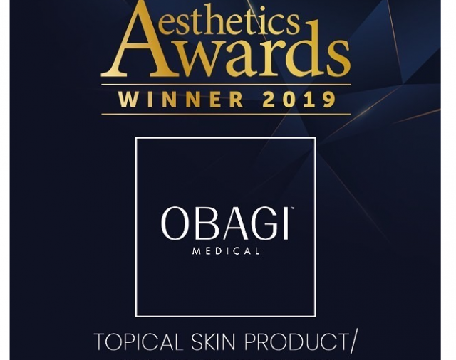 Obagi Medical winnaar van Best Topical Skin Product Range 2019!